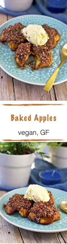 *new #recipe on the blog* Baked Apples A new quick #fall recipe: Baked #Apples - they are #vegan and #glutenfree and will warm your heart. Fresh from the oven with a coconut- Celebrate all my great fall recipes with this scrumptious dessert.
