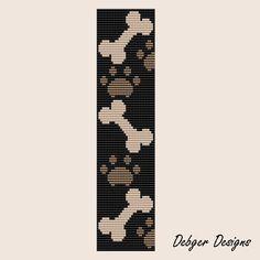Give a dog a bone  Loom Bracelet Cuff Pattern SAVING by LoomTomb, $6.50
