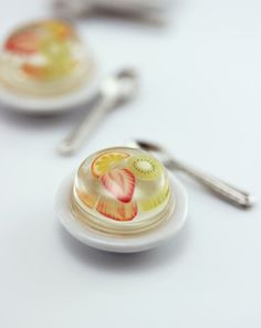 Obst Gelee 01:12 Puppenhaus Miniatur Dessert von shayaaron auf Etsy