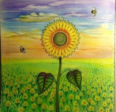 secret garden coloring sunflower - Google keresés