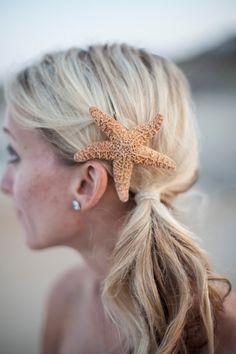 Starfish Hair Clip. Mermaid Hair Really Cute & by ShepherdoftheSea, $14.00