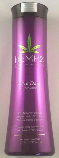 Hempz Ultra Dark Tan Maximizer Indoor Outdoor Tanning Lotion By Supre Tan #Supre