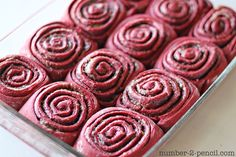 Red Velvet Cake Mix Cinnamon Rolls - No. 2 Pencil