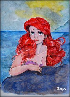 Ariel, a little Mermaid in love. by RosyChiovaro77.deviantart.com on @deviantART