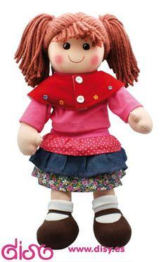 Muñeca de trapo Camila - Muñecas de trapo - 40 cm