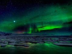 Islandia, paraíso de auroras boreales. Ver alguna vez auroras boreales.