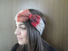 NEW PRICE handknitted headband  smooth earswarmer. by Vasoknitwear