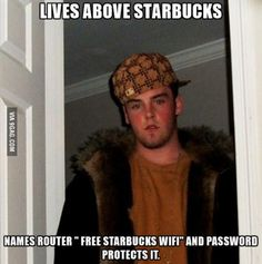 The employees must get about 40 people a day asking for the password due to this guy...