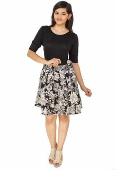 Buy Cottinfab Women's A-line Dress Online at Best Offer Prices @ Rs. 989/- In India.