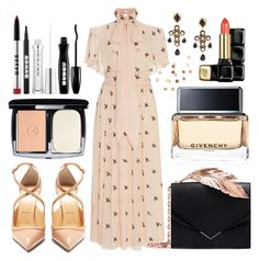 """Untitled #471"" by ngkhhuynstyle on Polyvore featuring Christian Louboutin, Temperley London, RALPH & RUSSO, Givenchy, Dolce&Gabbana, Chanel, Buxom, Guerlain and Umbra"