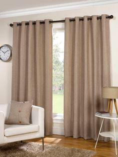 Sundour Lexington Natural Basketweave Readymade Eyelet Curtains Soft Furnishings Emporium Home Interiors