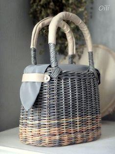 Newspaper Basket, Newspaper Crafts, Rattan Basket, Basket Bag, Bicycle Basket, Wicker Purse, Paper Weaving, Sisal, Handmade Bags