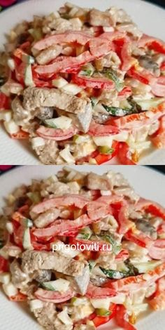 New Recipes, Salad Recipes, Dinner Recipes, Cooking Recipes, Healthy Recipes, Meat Salad, Pasta Salad, Food Platters, Chicken Recipes