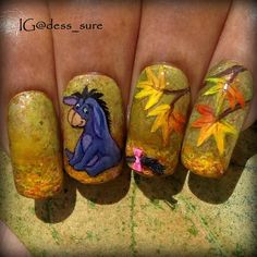 Most recent Images Fall Nail Art thanksgiving Style Allow golden glitters a new fall-perfect up-date using an uber quite september leaf throughout brill Orange Nail Designs, Fall Nail Art Designs, Beautiful Nail Designs, Cute Nail Designs, Plum Nails, Fancy Nails, Cute Nails, Sparkly Nails, Thanksgiving Nail Designs