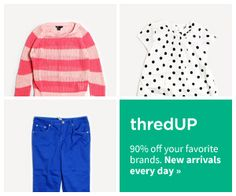 Online thrift store.  Buy cheap or sell clothes you are done with.