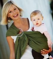 a sheet and two big rings will  make this a very easy and cheap baby carrier!