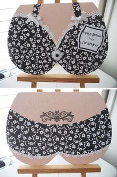 Bra and panties card