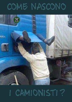 Quando tuo figlio ti chiederà come nascono i camionisti tu mostragli questa foto.  #bastardidentro #camionista #parto #nascita