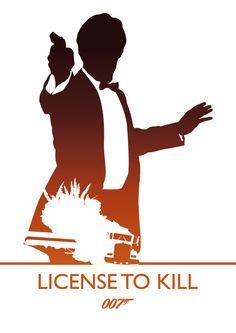 License To Kill, James Bond by Phil Beverley, via Behance