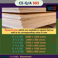 Types Of Plywood, Engineering Notes, Mechanical Engineering, Interior Work, Interior And Exterior, Plywood Grades, Shuttering Plywood