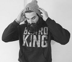 Beard care and grooming products for the royal man. Shop for the Beard Bib, shirts, hats and beard kits from BEARD KING™. Fear the Beard, Not the Mess™ Beard King, Beard Grooming Kits, Latest Clothes For Men, Beard Care, Eye Candy, Beards, Athletic, Hoodies, Stylish