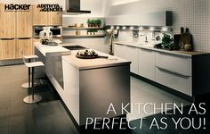 Let your kitchen reflect your beauty! Give your kitchen space that innovative edge with sleek designs.  #Beauty  #hackerkitchens