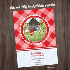Little Red Riding Hood PRINTABLE Invitation  by LuLuPaperPrints, $6.00