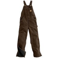Carhartt Men's Sandstone Bib Overalls, Size: 36, Brown