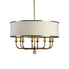 """Zoe Eight-Light Brass Chandelier - Ethan Allen US Zoe Eight-Light Brass Chandelier $699.00 Now $629.10 In-Stock Dimensions: 28""""dia. x 38""""h Item#: 093702"""