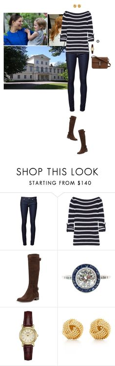 """Spending her last afternoon in Sweden at Haga Palace with Victoria and Estelle"" by hrhprincessamelia ❤ liked on Polyvore featuring Naked & Famous, Tory Burch, Sesto Meucci, Citizen, Tiffany & Co., Gucci, women's clothing, women's fashion, women and female"