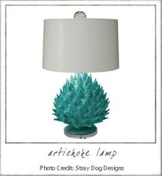 a little in love with this artichoke lamp by stray dog designs.