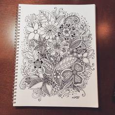 kc doodle art More Zentangle Drawings, Doodles Zentangles, Doodle Drawings, Doodle Designs, Doodle Patterns, Zentangle Patterns, Zen Doodle, Doodle Art, Inspiration Artistique