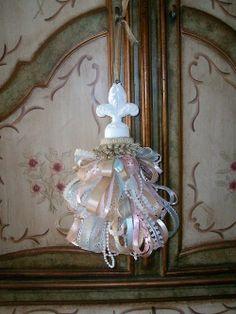 pastel shabby chic decorative tassel
