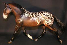 Traditional Custom Breyer Horse Journeyman Cleveland Bay -  Bay Spotted Blanket
