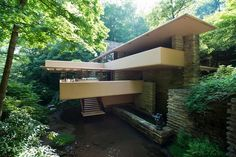 The Most Famous American Homes That Aren't The White House  #refinery29  http://www.refinery29.com/iconic-american-homes-architecture#slide-4  Frank Lloyd Wright's FallingwaterMill Run, PennysylvaniaDesigned in 1935, FLW's Fallingwater was created as a mountain retreat for department store tycoon Edgar J. Kaufmann and his family. Situated about 90 minutes outside of Pittsburgh, Fallingwater is the only Wright-designed residence to open to the public, with its furnishings intact.
