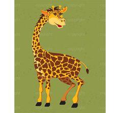 INSTANT DOWNLOAD | Cute Giraffe Illustration | Zoo Nursery Wall Art  Baby Shower Art | Shanna Riehl Art Shoppe | $3.50