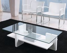 Shown with a White finish White Glass Coffee Table, Coffe Table, Dinning Table, Glass Table, Contemporary Living Room Furniture, Contemporary Coffee Table, Home Decor Furniture, Furniture Design, Tea Table Design