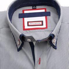 Koszula WR London (wzrost 176-182) - Taliowane (Slim Fit) - Koszule męskie Useful Life Hacks, Mens Fitness, Types Of Shirts, Slim, Backpacks, London, Fit Men, Men Shirt, Bags