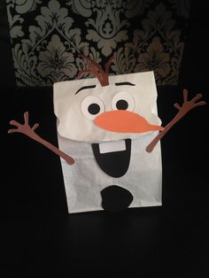Snowman Party Favor Sack Faces color por ClearlyCandace en Etsy