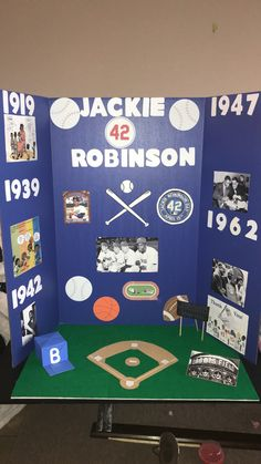 Jackie Robinson Reading Fair Board Reading Reading