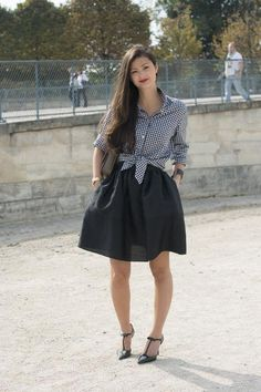 How to wear a gingham shirt to work, plus 19 other super chic combos