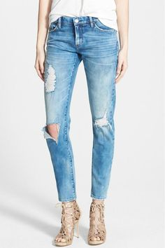 These destroyed jeans are everything for everyone. They fit amazing and only get better with wear. Can cuff them at bottom to wear with cute flats or pair with your favorite stilettos for a night on the town.   Destroyed Jeans by BlankNYC. Clothing - Bottoms - Jeans & Denim - Distressed Miami, Florida