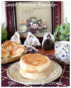Chinese Sweet Potatoes Pancake