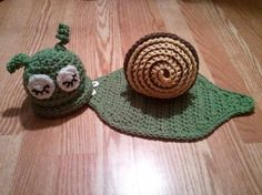 Snail Hat & Cape - Crochet Animal Bug Baby Newborn NB Beanie Cap 0-3 months Costume Halloween Thanksgiving Winter Outfit. $29.99, via Etsy.