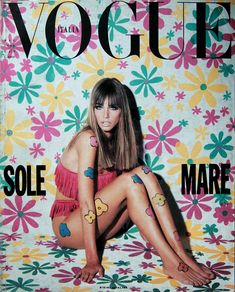 covers of vogue 1990s | Vogue Italy cover with Roberto Chirko - May 1990 - ID3311