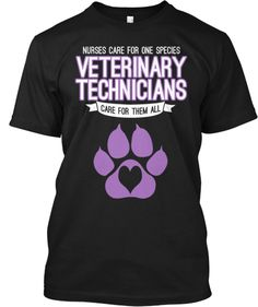 Discover Vet Techs Care Limited Or Top T-Shirt, a custom product made just for you by Teespring. Veterinary World, Veterinary Medicine, Vet Tech Quotes, Veterinarian Technician, Vet Assistant, Vet Med, T Shirt, Receptionist, Career
