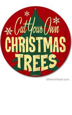 I looooove vintage Christmas tin signs!