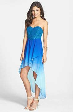 4abd02c2e5f2 Speechless Sequin Bodice Ombré High/Low Dress (Juniors) available at  #Nordstrom Homecoming