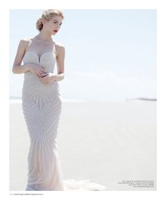 rafael cennamo beaded pearl wedding dresses   Pearl and crystal embroidered dress by Rafael Cennamo White Couture ...