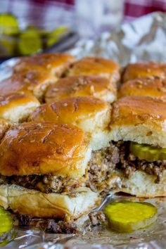 These Cheeseburger Sliders are what dreams are made of! Soft Hawaiian rolls stuffed with extra cheesy beef, and a butter and mustard glaze to go on top. They are so easy and come together in just a few minutes. Perfect appetizer for your Halloween party! Winco finally broke me. I bought a massive amount of Halloween candy today. I've been seeing it in stores for weeks of course, but kept thinking 'too soon, too soon, you will just eat it all.' But Winco. I mean what was I supposed to do? It's